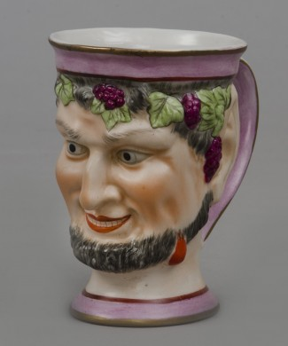 English Staffordshire Bacchus Satyr Mug, Circa 1870