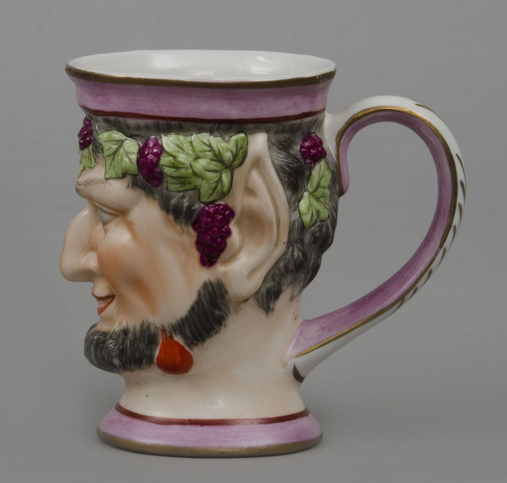 English Staffordshire Bacchus Satyr Mug Circa 1870