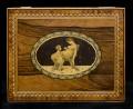 Antique English Regency Rosewood Inlaid Box, Circa 1820
