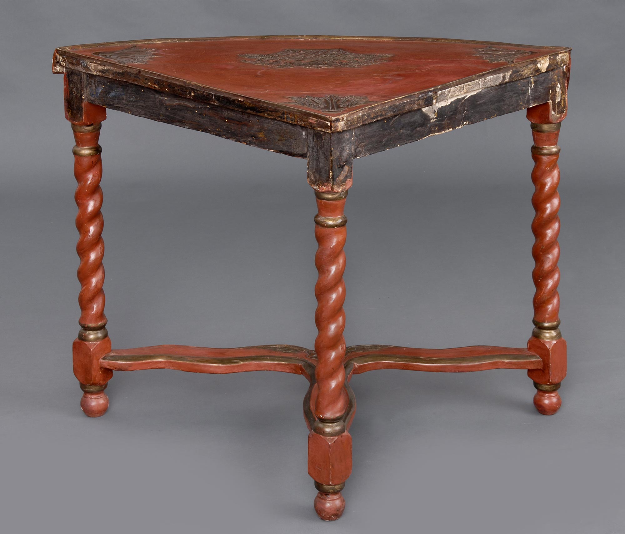 French Lacquer Antique Corner Table Antique Corner Tables