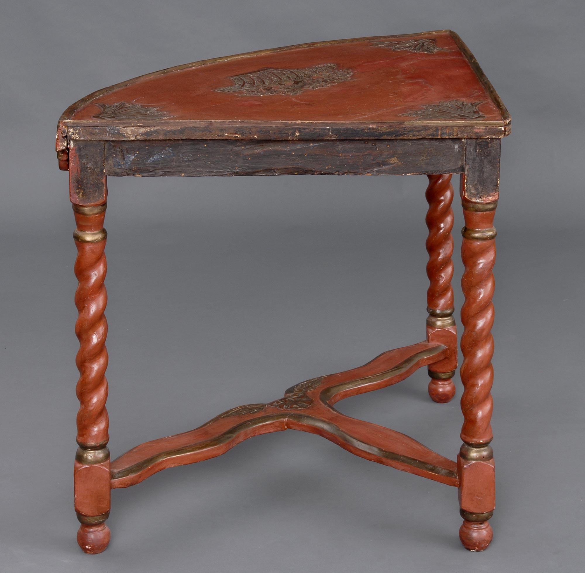 French Lacquer Antique Corner Table Antique Corner Tables