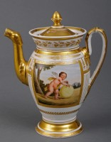Paris Porcelain Coffee Pot, Circa 1810