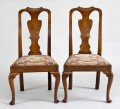 Pair of Chippendale Elm Side Chairs, Circa 1740