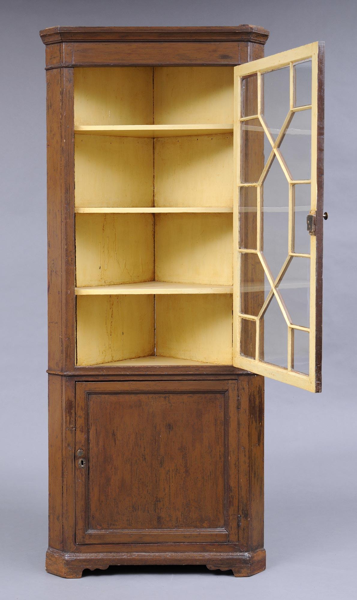 187 Product 187 English Pine Corner Cupboard
