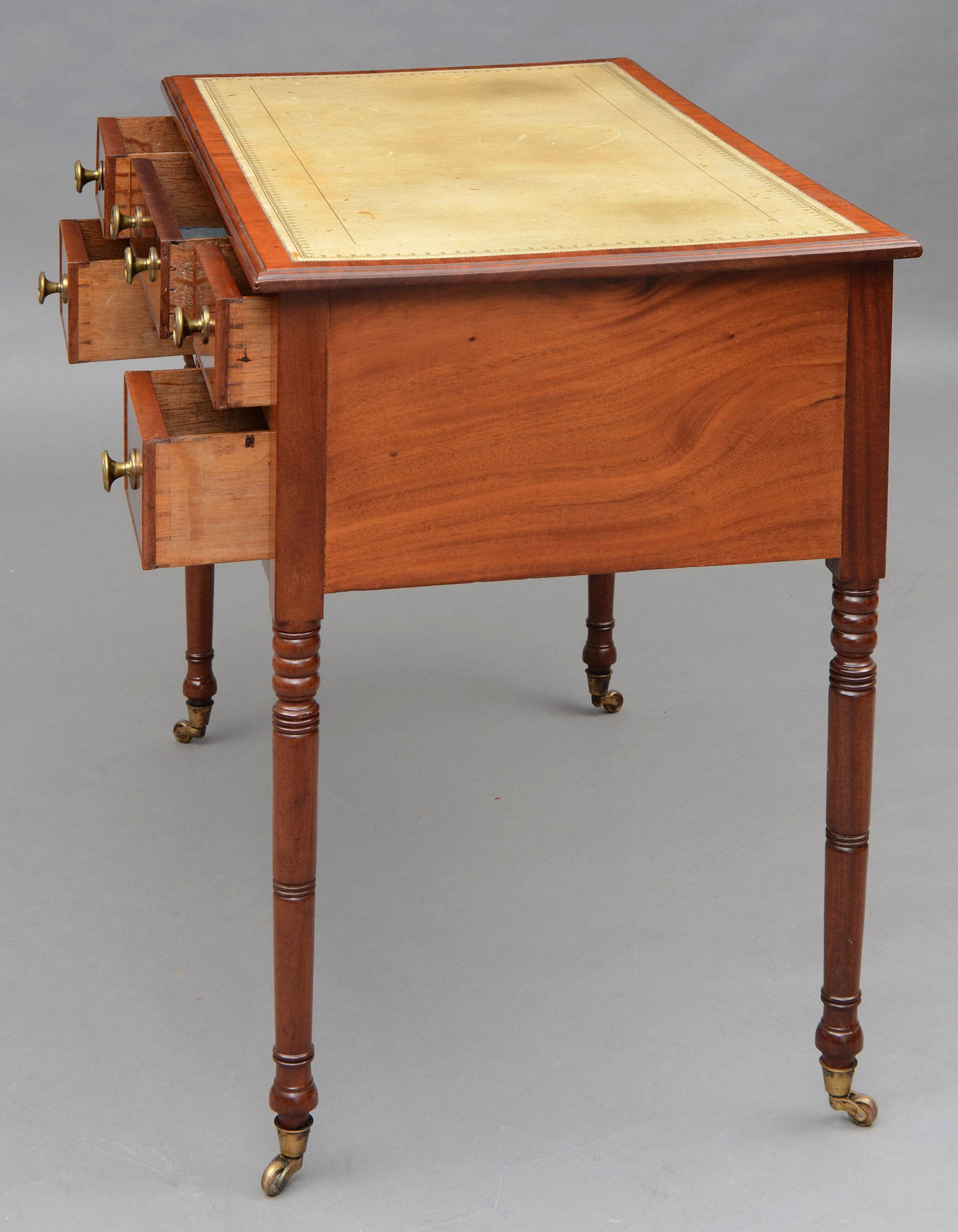 ... English Antique Regency Mahogany Ladies Writing Desk ... - English Regency Mahogany Ladies Antique Writing Desk