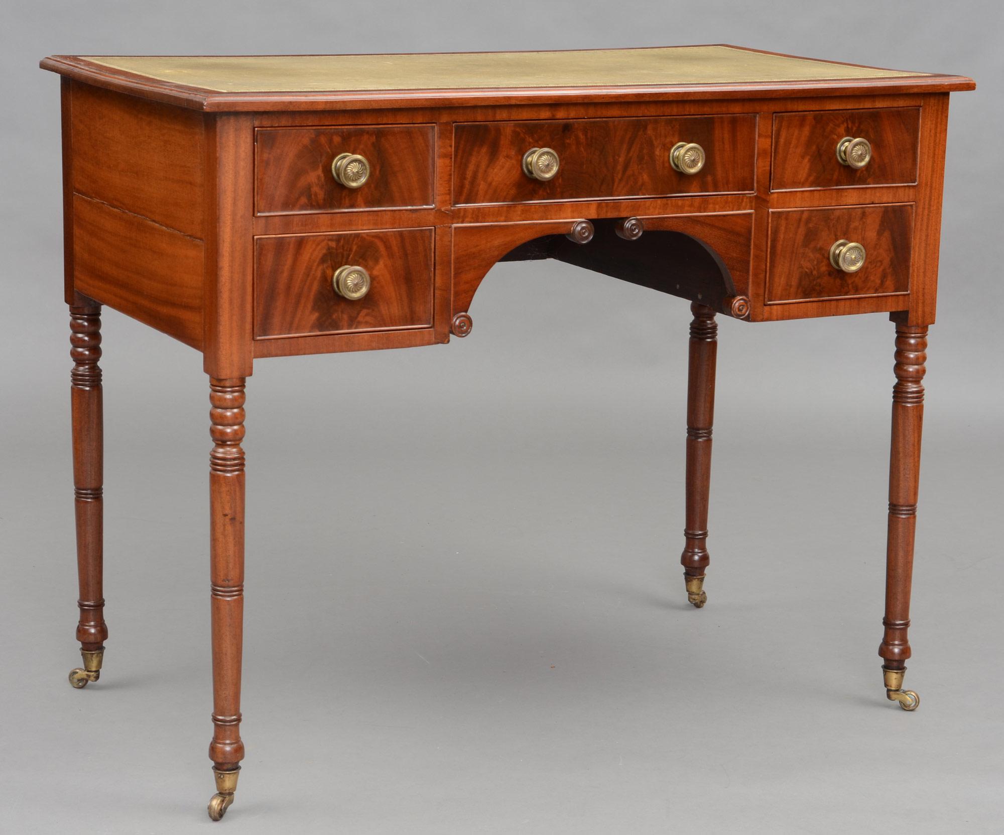 English Antique Regency Gany Las Writing Desk