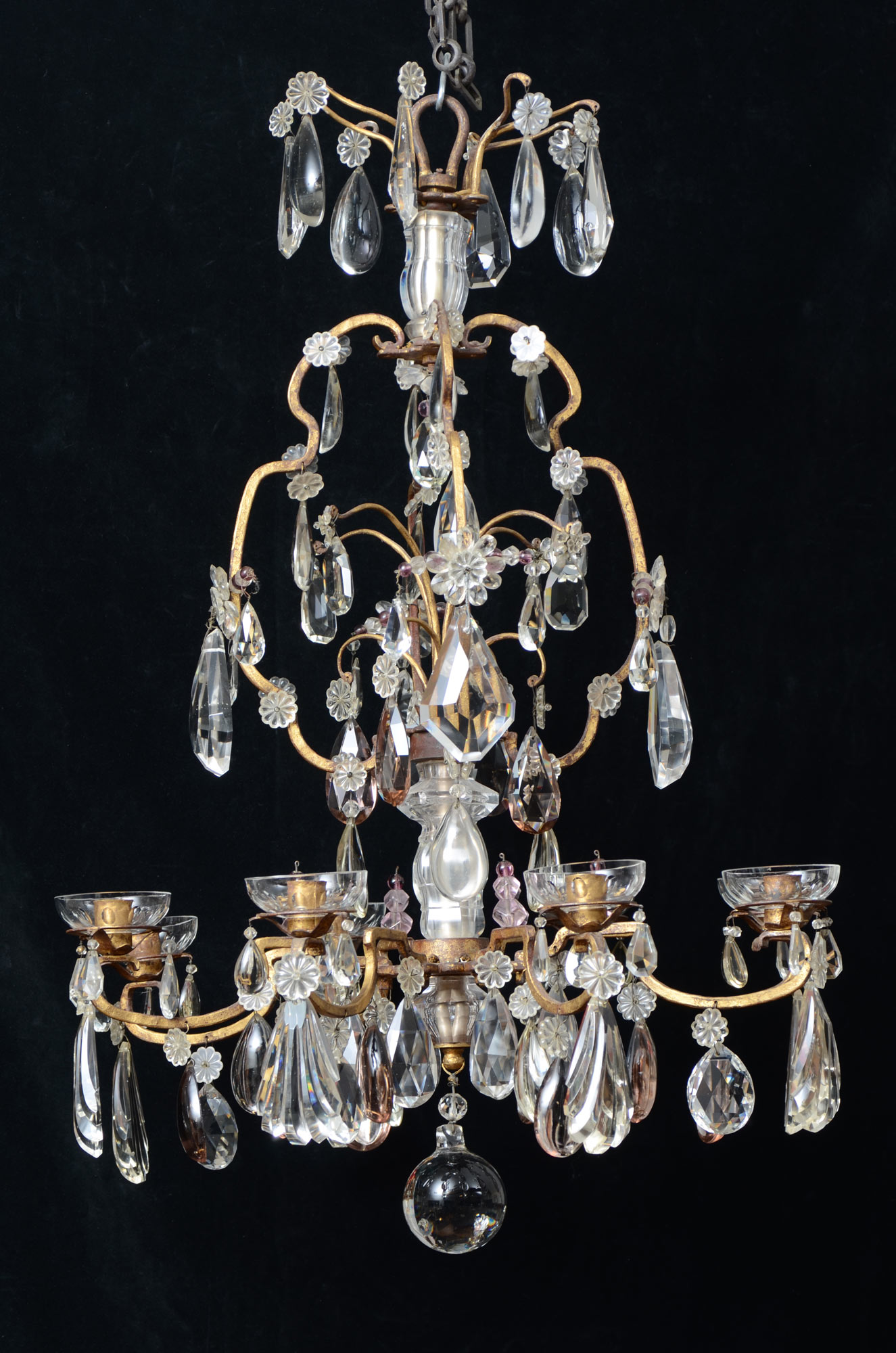 product theresa garden today large light finish chrome home shipping chandeliers free tier chandelier extra grand overstock crystal victorian maria