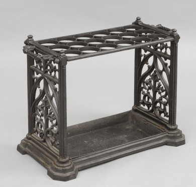 English Cast Iron Umbrella Stand