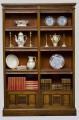 English Antique Victorian Walnut Open Bookcase, Circa 1870