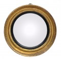 Gilded Antique English Convex Mirror with Beaded Edge