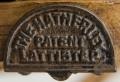 English Antique Pine Ladder Labeled