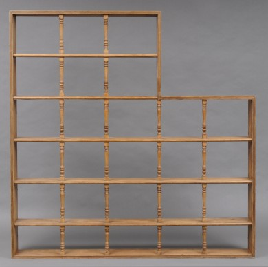 English Antique Very Unusual Pine Open Book Shelves, Circa 1870