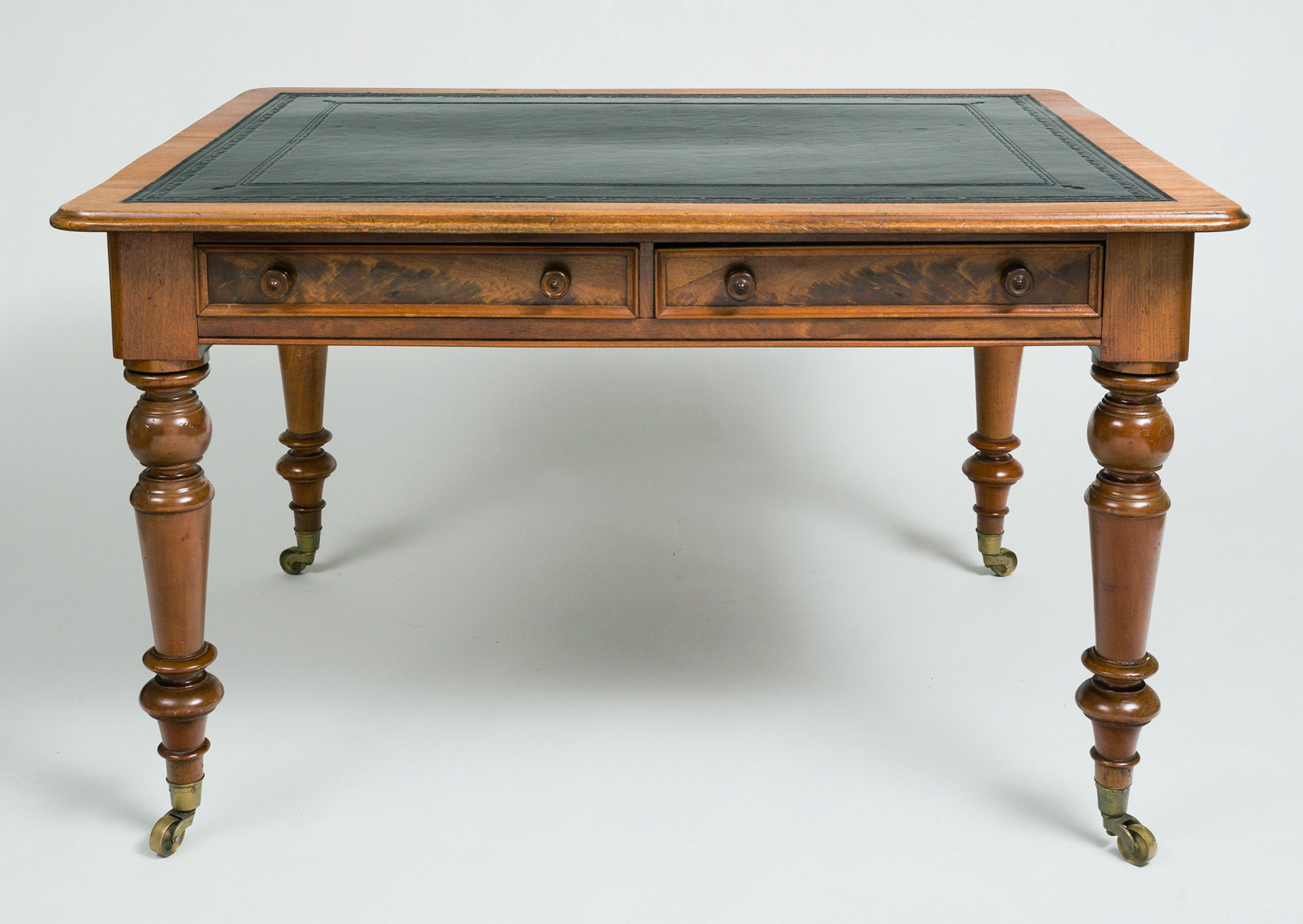 English Antique Mahogany Writing Table Or Desk