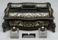 Antique Anglo-Indian Ebony and Ivory Inkstand, Circa 1830