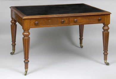 English Antique Regency Mahogany Writing Table