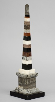 Italian Large Specimen Marable Obelisk