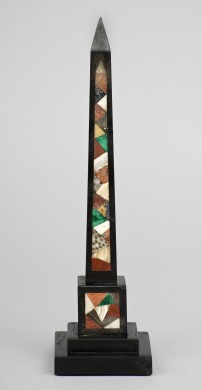 Italian Specimen Marble Obelisk