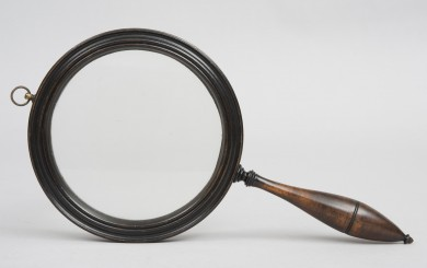 Antique Gallery Treen Magnifying Glass, Circa 1790