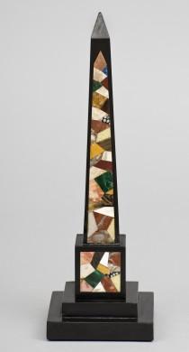 Italian Grand Tour Specimen Marble Obelisk