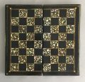 Victorian Papier Mache & Mother of Pearl Chess and Backgammon Games Box