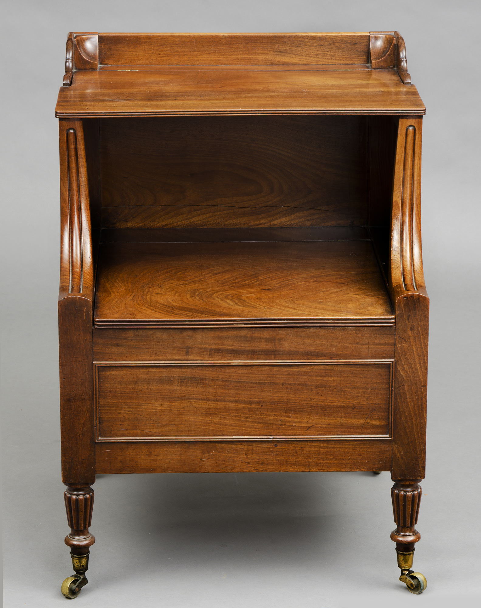 ... English Antique Georgian Lancashire Commode Or Bedside Table ...