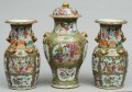 Chinese Famille Rose Garniture Set