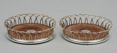 Pair Regency Wine Coasters
