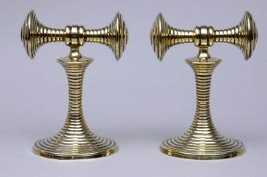 Pair Brass Tool Rests or Bookends