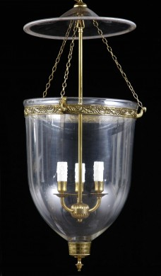 Antique English Glass Hall Lantern