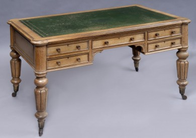 English Antique Victorian Partners Desk