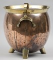Antique English Victorian Copper and Brass Coal Scuttle, Circa 1890