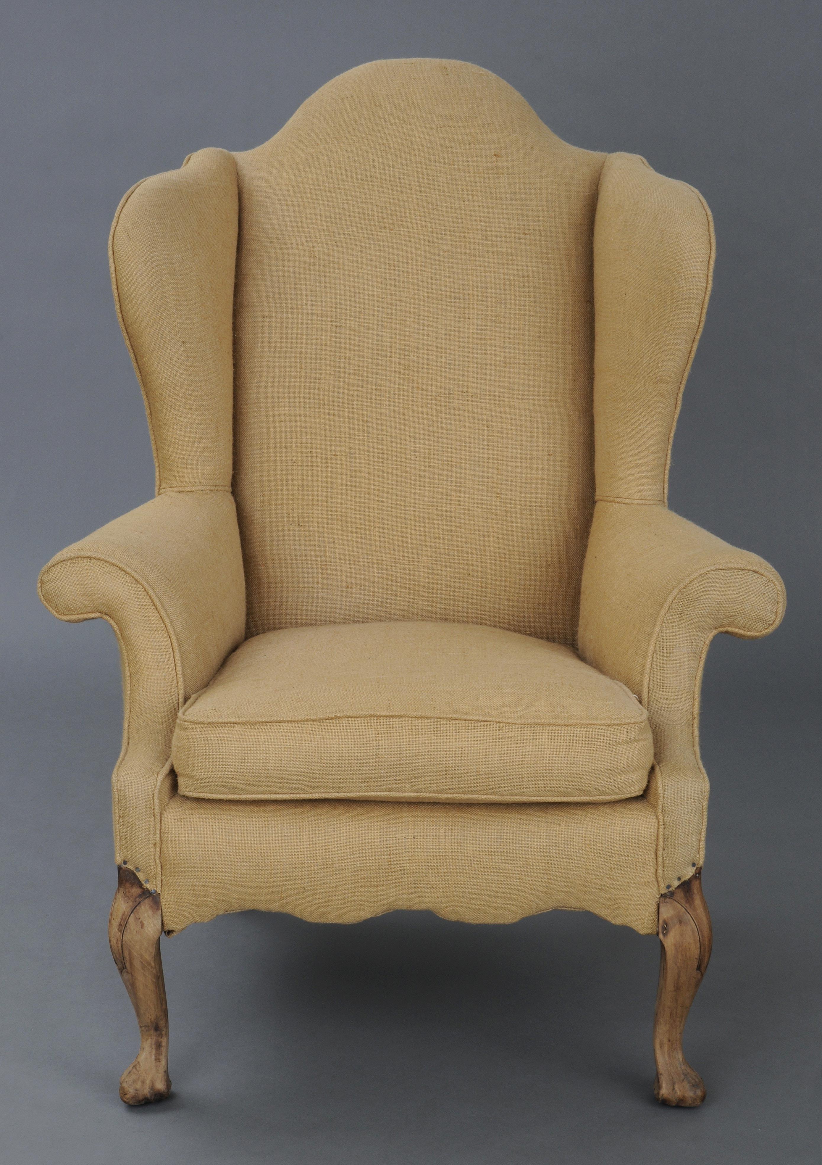 Antique wing chair -  English Antique Georgian Walnut Wing Chair