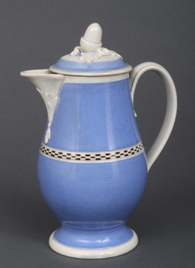 Rare English Mocha Coffee Pot, Circa1820