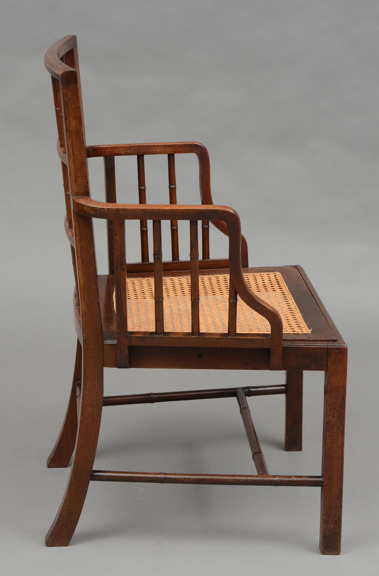 ... English Antique Rare Georgian Faux Bamboo Armchair, 18th Century ...