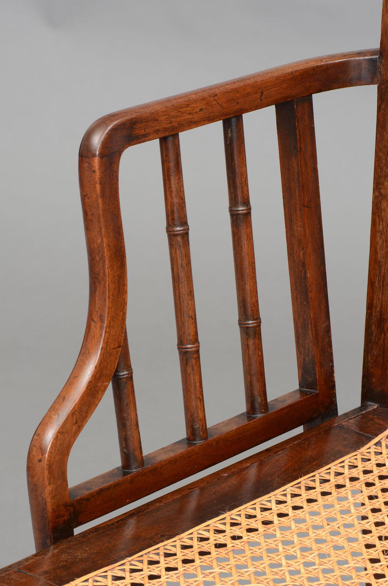 Antique bamboo armchairs rare georgian faux bamboo antique armchair english antique rare georgian faux bamboo armchair 18th century arubaitofo Images