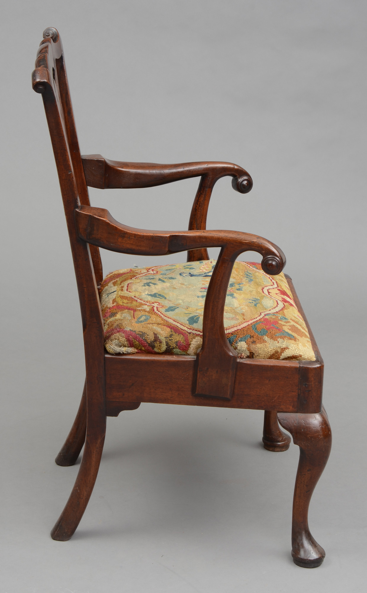 Antique Armchair George Iii Chippendale Period Antique