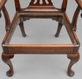 English Antique George III Chippendale Period Armchair, Circa 1760