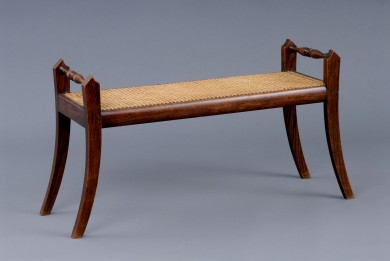 English Antique Caned Bench