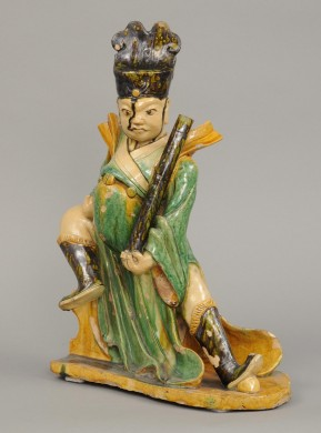 Chinese Warrior Roof Tile