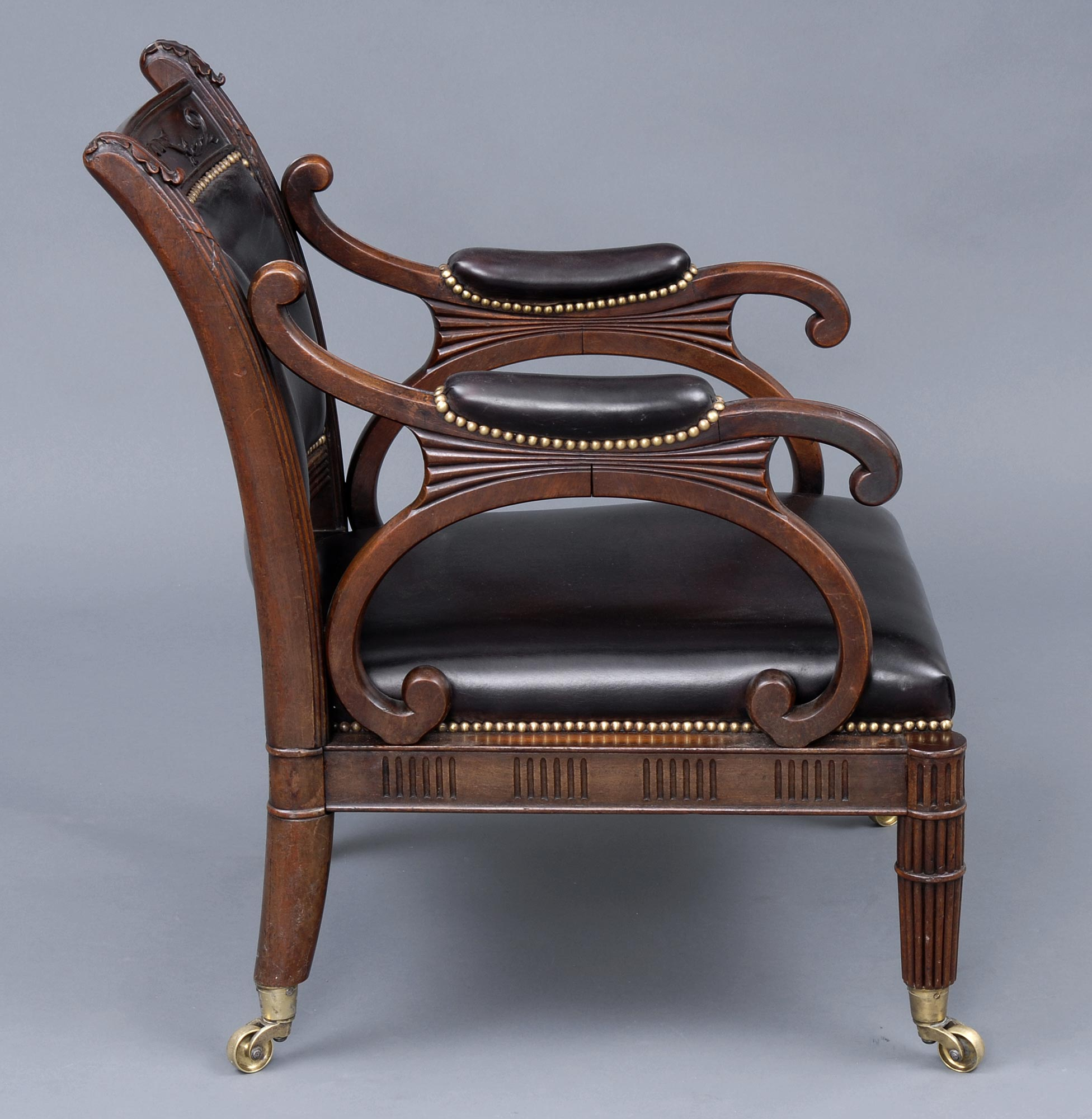 Antique Library Chairs | English Regency Mahogany ...