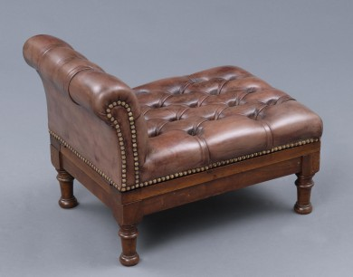 English Antique Double Action Gout Stool