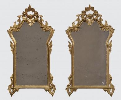 Pair Italian Rococo Mirrors