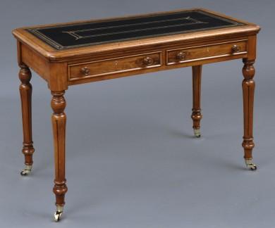 Antique English Walnut Writing Table