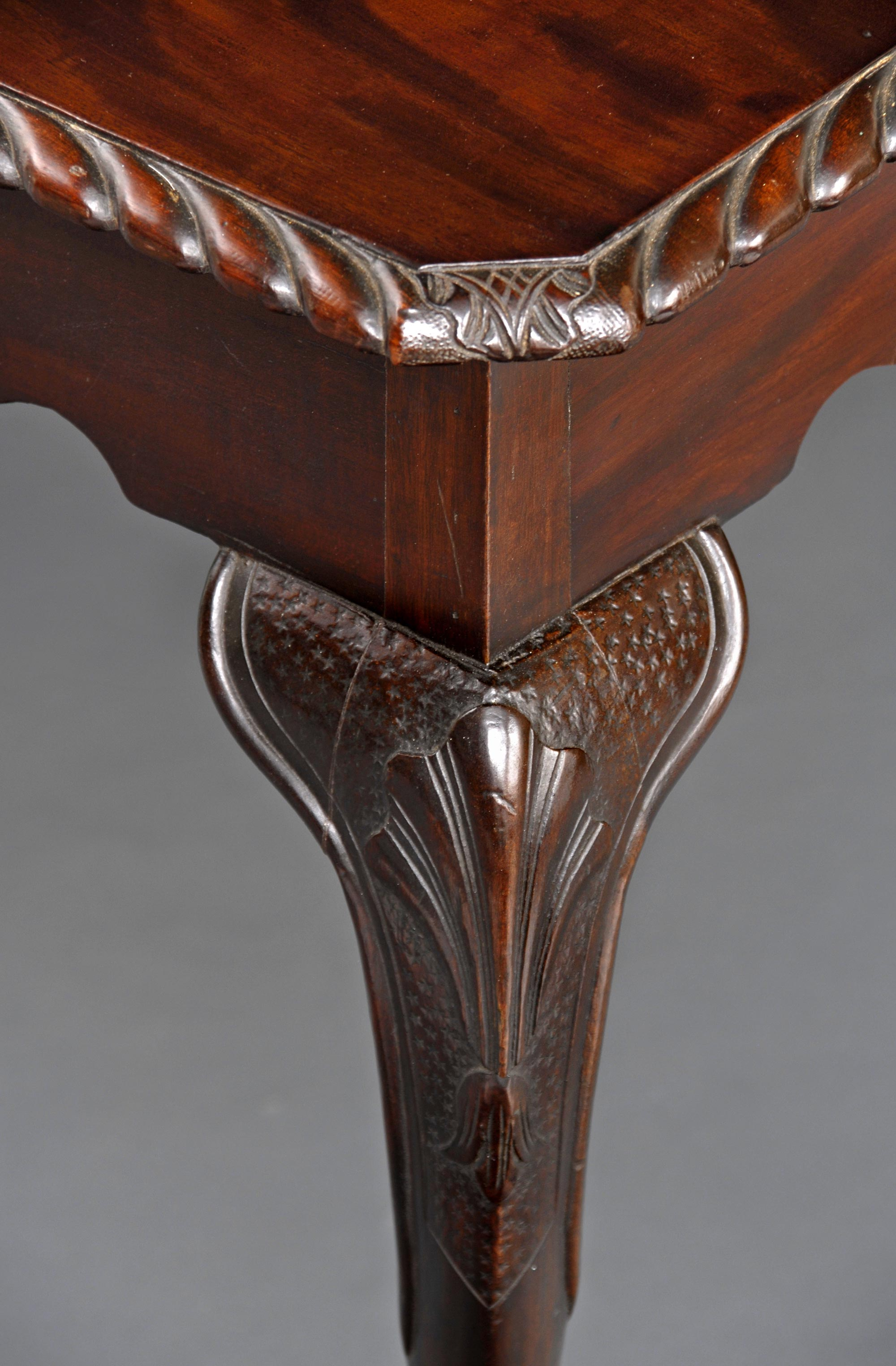 Antique Side Tables Antique Irish Carved Mahogany Side Table