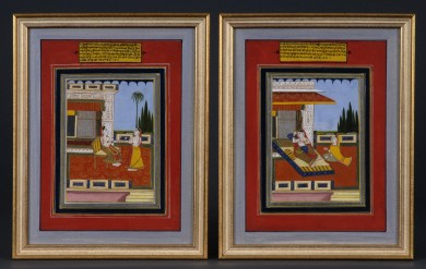 Pair of Indian Raga Paintings