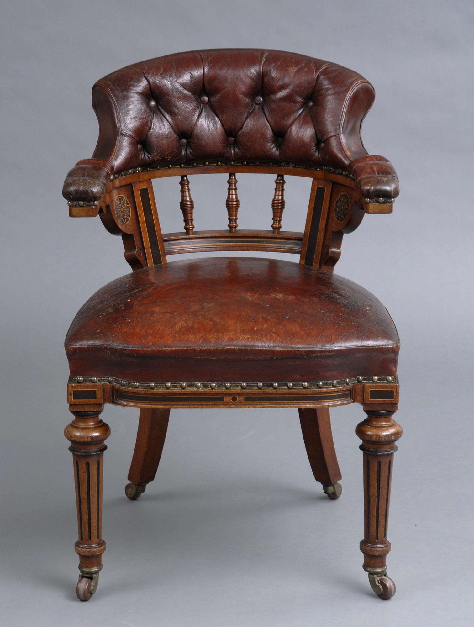 ... Circa · English Antique Victorian Oak & Leather Desk Chair by Marsh,  Jones & Cribb, ... - Product » Victorian Oak Desk Chair