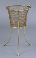 Antique Brass Waste Paper Basket