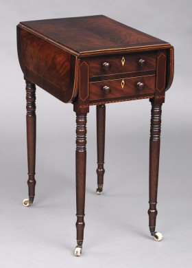 Antique English Georgian Pembroke/Work Table