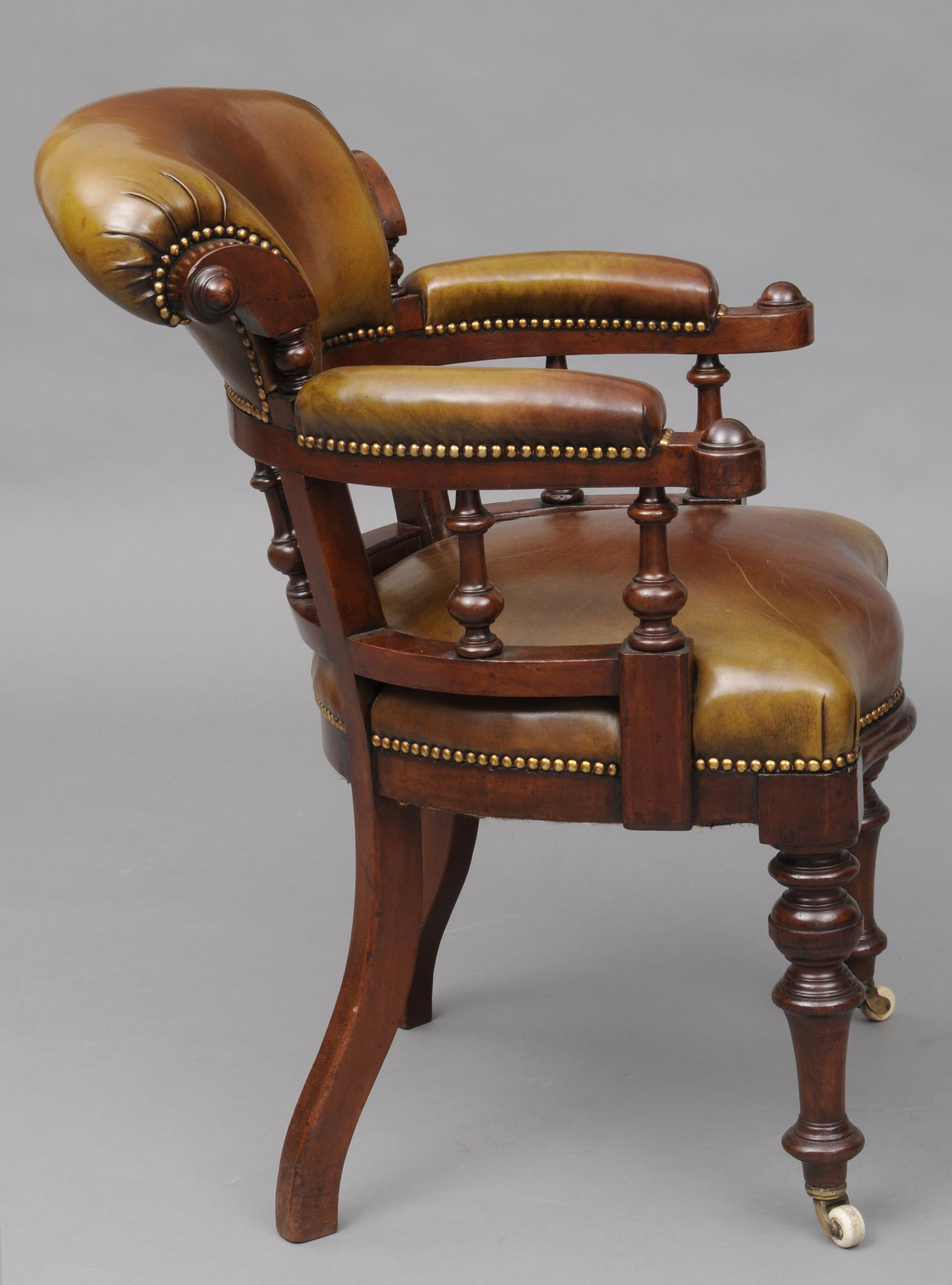 antique desk chair english antique mahogany leather desk chair
