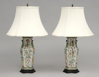 Pair Chinese Lamps